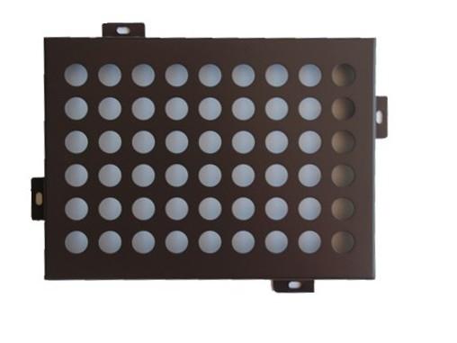 冲孔铝单板(咖啡色)